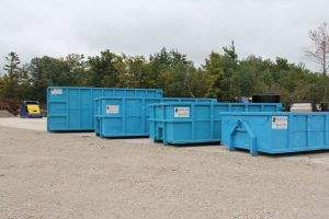 Moffatt Scrap Iron & Metal Inc. - 4 Large Blue Recycling Bins